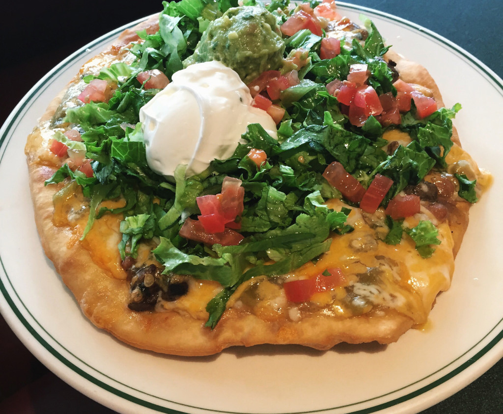 The Plaza Cafe's Indian taco.